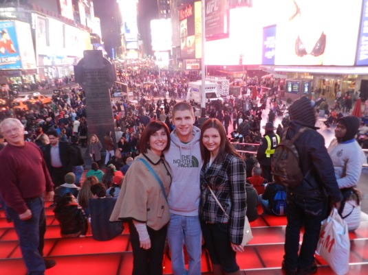 Me, Donovan and Kaitlyn in Times Square